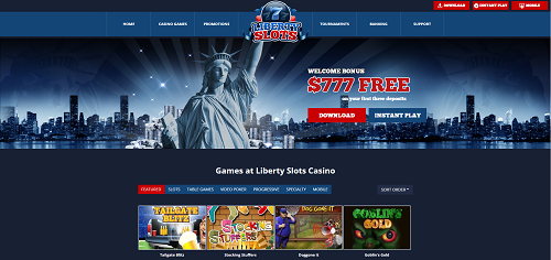 liberty slots casino homepage
