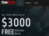Club World Casino Welcome Bonus