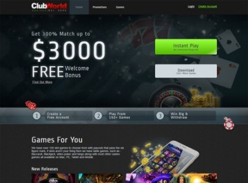 Club World Casino Instant Play