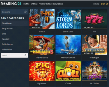 Roaring 21 Casino Games