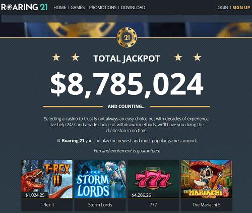 Roaring 21 Casino No Deposit Bonus