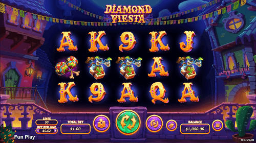 Diamond Fiesta Slot Screen
