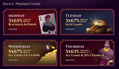 Aladdins Gold Daily Bonus Codes for Existing Players