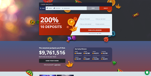 cherry jackpot welcome bonus codes