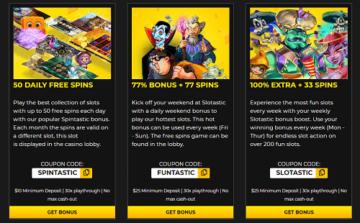 Slotastic Casino Bonus Codes