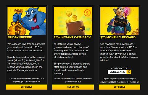 Slotastic Casino Bonuses for Existing Players