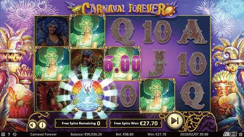 Carnaval Forever Slot Bonus Features