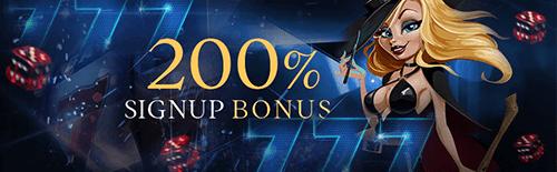 Exclusive Casino Bonus Signup Banner