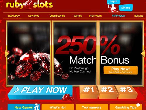 ruby slots bonuses