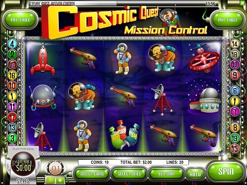 Cosmic Ques: Mission Control Slot Reels