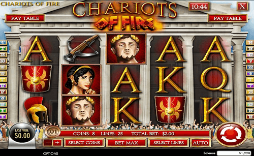 chariots of fire slot online