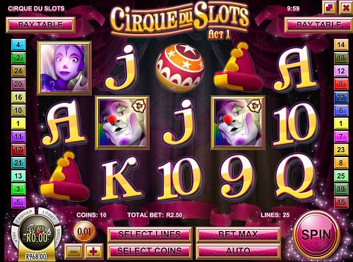 Cirque Du Slots Game