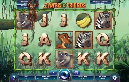 Zimba and Friends Slot