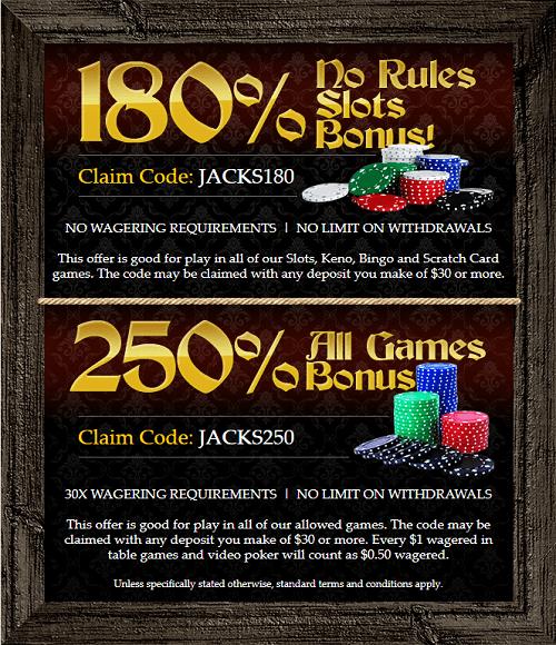 Captain Jack Casino Bonuses