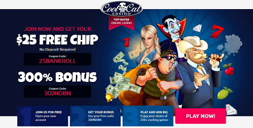 CoolCat Casino Welcome Bonuses