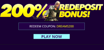 Dreams Casino Reload Bonus