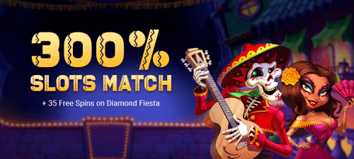 Free Spin Casino 300% Slots Bonus
