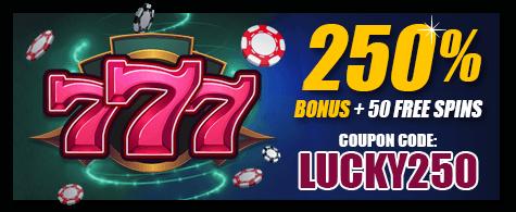 Lucky Hippo 250% Reload Bonus