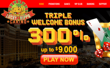 Lucky Hippo Casino Welcome Bonus