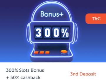 Rich Palms Casino Third Deposit Bonus