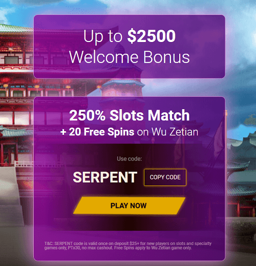 Exclusive Casino Welcome Bonus